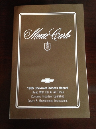 1985 chevrolet monte carlo owners manual publicscrutiny Images