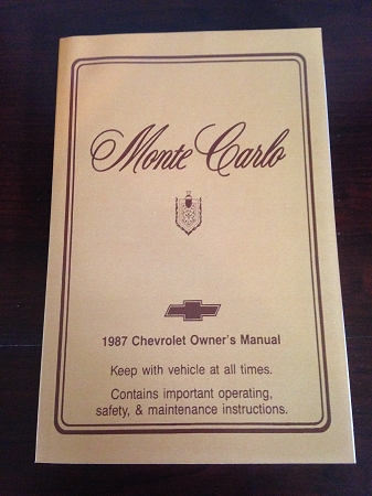 1987 chevrolet monte carlo and ss owner s manual rh mikesmontes com 1970 Monte Carlo SS 1990 Monte Carlo SS