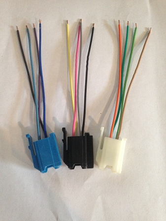 radio wiring pigtails set of 3 free shipping