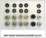 Reproduction Body Mount Bushings Cushions (22) Kit