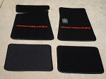 Carpeted Floor Mats with Red Monte Carlo SS Logo- Black Mats 251