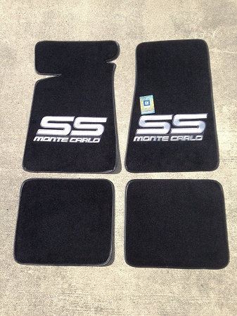 Carpeted Floor Mats Black With Gray Monte Carlo Ss Logo