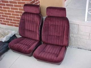Front Bucket Seats Maroon Refurbished