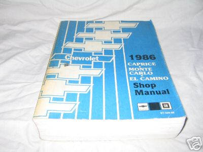 1986 used shop manual rh mikesmontes com 1985 Monte Carlo 1986 monte carlo owners manual free pdf