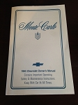 1983 Chevrolet Monte Carlo Owner's Manual (Free Shipping)