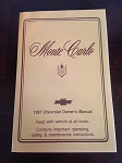 1987 Chevrolet Monte Carlo and SS Owner's Manual