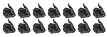 78-87 El Camino Bed & Tailgate Chrome Molding Clips 14pcs