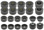 Reproduction Rubber Body Mount Bushings Kit with Bolts