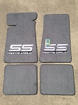 Carpeted Floor Mats - Large Gray Monte Carlo SS Logo on Gray/Opal