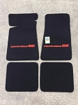 Carpeted Floor Mats with Red Monte Carlo SS Logo on Black Mats