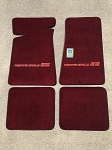 Maroon Carpeted Floor Mats with Small Red MCSS Logo