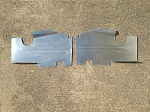1983-1988 Monte Carlo SS Top Plate Extensions Satin Finish Aluminum Bead Rolled