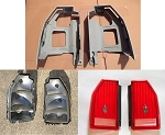 1987-88 Monte Carlo Complete 6 pc Taillight Housing & Lens Kit (Free Shipping)
