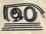 Monte Carlo with Wide Chrome 9 pc Door and Trunk Weatherstrip Seal Kit