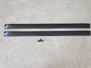 Black Rear Bumper Trim Pair & Center Trim Clip
