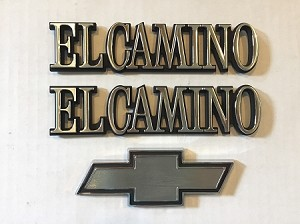 El Camino Tailgate Bowtie and Quarter Panel Emblems Set (Free Shipping)