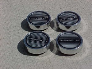 "New 1986-1988 Monte Carlo SS Set of 4 Center Caps ""Chevrolet"""