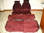 Premium PUI Front and Rear Seat Upholstery - Choose your color