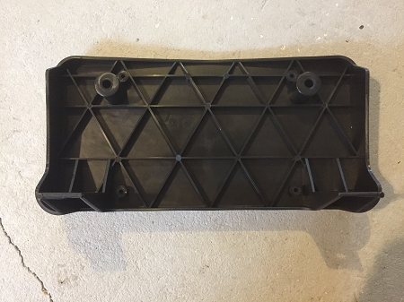 New Black 1981-1988 Olds Cutlass Front License Plate Bracket