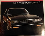 1983 Monte Carlo Dealer Brochure (Free Shipping)