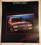 1984 Monte Carlo Dealer Brochure (Free Shipping)
