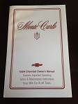 1984 Chevrolet Monte Carlo Owner's Manual (Free Shipping)