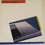 1986 Monte Carlo Dealer Brochure