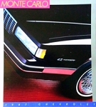 1987 Monte Carlo Dealer Brochure (Free Shipping)