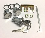 Lock Set Chrome Door and Trunk Set