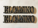 El Camino Quarter Panel Nameplate Emblems Set