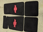 Floor Mats Chevy Bowtie (Choose Color)