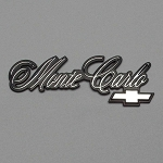 Monte Carlo Nameplate with bowtie