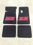 Black Carpeted Floor Mats with Large Red MCSS Logo (Free Shipping)