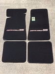 Carpeted Floor Mats - Small Gray Monte Carlo SS Logo on Black