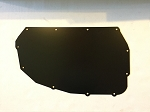 Black Aluminum A/C, Heater Box Delete Plate Cover Up