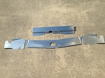 1983-1988 Monte Carlo 4 PC Top Plate Combo Satin Finish Aluminum Bead Rolled