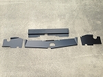 1983-1988 Monte Carlo SS 4PC Top Plate Combo Non Bead Rolled Powder Coated Black