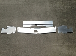 1983-1988 Monte Carlo SS 4 PC Top Plate Cover Up Combo Satin Finish Aluminum, Non Bead Rolled