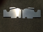 1983-1988 Monte Carlo SS Top Plate Extensions Satin Finish Aluminum Non Bead Rolled