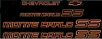 Decal Set Orange 1985 1986