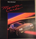 1985 Monte Carlo Dealer Brochure (Free Shipping)