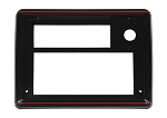 Radio Face Plate, Black w/Red Trim