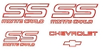 Decal Set Red 1987 1988
