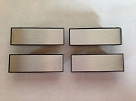 Silver Door Pull Strap Covers Set of 4