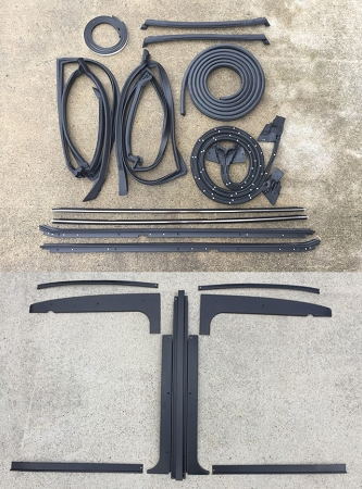 84-87 Buick Grand National Complete 13 pc T-Top Weatherstripping Seal Kit